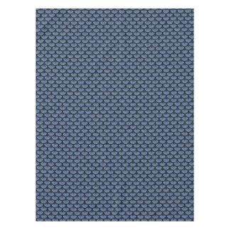 SCALES3 BLACK MARBLE & BLUE DENIM (R) TABLECLOTH