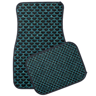 SCALES3 BLACK MARBLE & BLUE-GREEN WATER CAR MAT