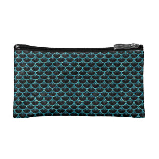 SCALES3 BLACK MARBLE & BLUE-GREEN WATER COSMETIC BAG