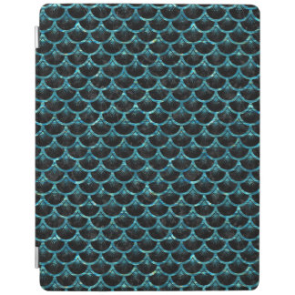 SCALES3 BLACK MARBLE & BLUE-GREEN WATER iPad COVER