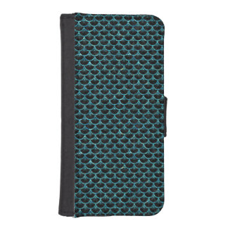 SCALES3 BLACK MARBLE & BLUE-GREEN WATER iPhone SE/5/5s WALLET CASE