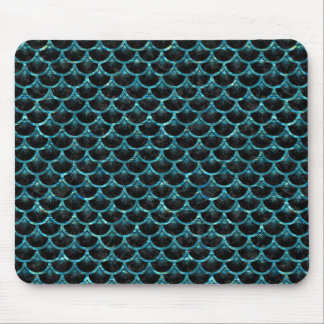 SCALES3 BLACK MARBLE & BLUE-GREEN WATER MOUSE PAD