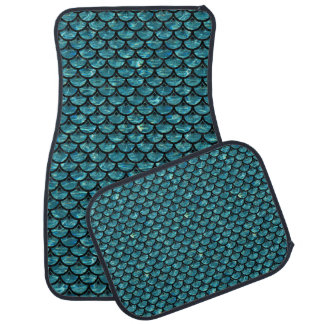 SCALES3 BLACK MARBLE & BLUE-GREEN WATER (R) CAR MAT