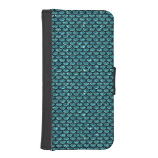 SCALES3 BLACK MARBLE & BLUE-GREEN WATER (R) iPhone SE/5/5s WALLET CASE