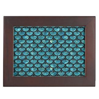 SCALES3 BLACK MARBLE & BLUE-GREEN WATER (R) KEEPSAKE BOX