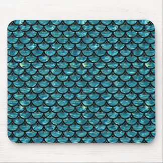 SCALES3 BLACK MARBLE & BLUE-GREEN WATER (R) MOUSE PAD
