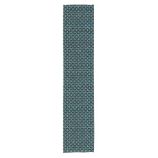 SCALES3 BLACK MARBLE & BLUE-GREEN WATER SHORT TABLE RUNNER