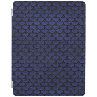 SCALES3 BLACK MARBLE & BLUE LEATHER (R) iPad COVER