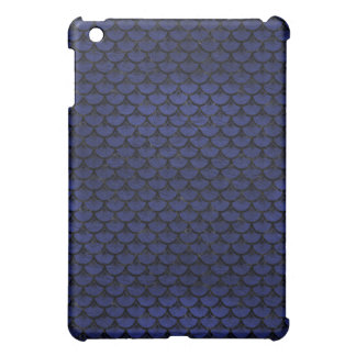 SCALES3 BLACK MARBLE & BLUE LEATHER (R) iPad MINI COVER
