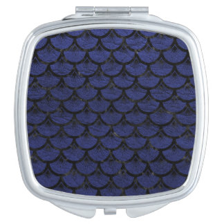 SCALES3 BLACK MARBLE & BLUE LEATHER (R) MAKEUP MIRRORS