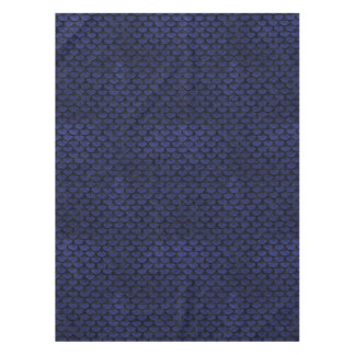 SCALES3 BLACK MARBLE & BLUE LEATHER (R) TABLECLOTH