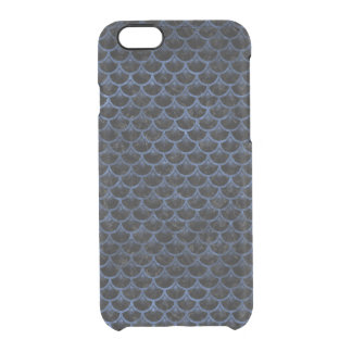 SCALES3 BLACK MARBLE & BLUE STONE CLEAR iPhone 6/6S CASE
