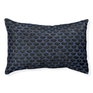 SCALES3 BLACK MARBLE & BLUE STONE PET BED