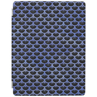 SCALES3 BLACK MARBLE & BLUE WATERCOLOR iPad COVER