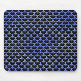 SCALES3 BLACK MARBLE & BLUE WATERCOLOR MOUSE PAD