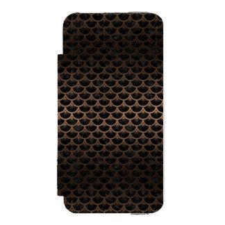 SCALES3 BLACK MARBLE & BRONZE METAL INCIPIO WATSON™ iPhone 5 WALLET CASE