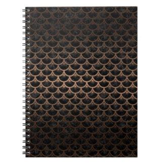 SCALES3 BLACK MARBLE & BRONZE METAL NOTEBOOK