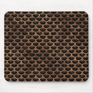 SCALES3 BLACK MARBLE & BROWN STONE MOUSE PAD