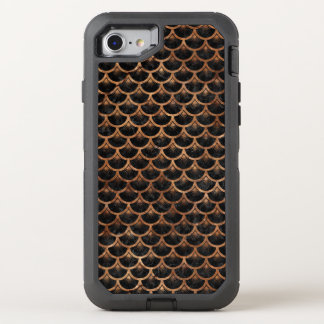 SCALES3 BLACK MARBLE & BROWN STONE OtterBox DEFENDER iPhone 8/7 CASE