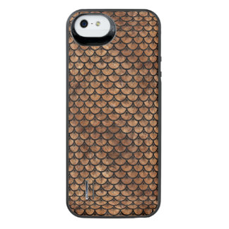 SCALES3 BLACK MARBLE & BROWN STONE (R) iPhone SE/5/5s BATTERY CASE