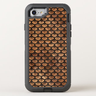 SCALES3 BLACK MARBLE & BROWN STONE (R) OtterBox DEFENDER iPhone 8/7 CASE