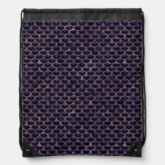 SCALES3 BLACK MARBLE & PURPLE MARBLE DRAWSTRING BAG