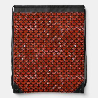 SCALES3 BLACK MARBLE & RED MARBLE (R) DRAWSTRING BAG