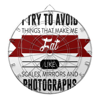 Scales Mirrors Photographs Make Me Fat Dartboard