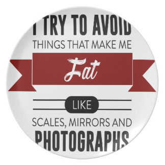 Scales Mirrors Photographs Make Me Fat Plate