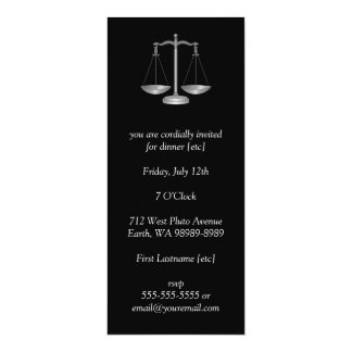 Scales of Justice 10 Cm X 24 Cm Invitation Card