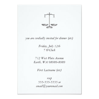Scales of Justice 13 Cm X 18 Cm Invitation Card