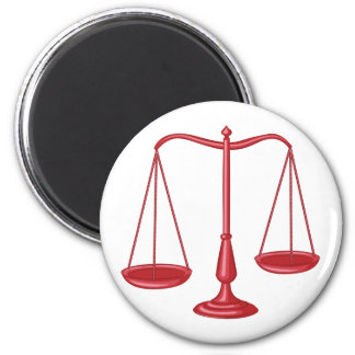 Scales Of Justice 6 Cm Round Magnet