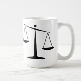 Scales of Justice Basic White Mug