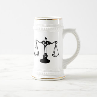 Scales of Justice Beer Stein