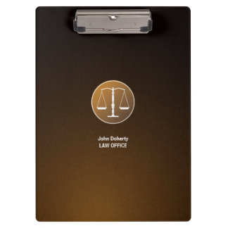 Scales of Justice | Brown Clipboard