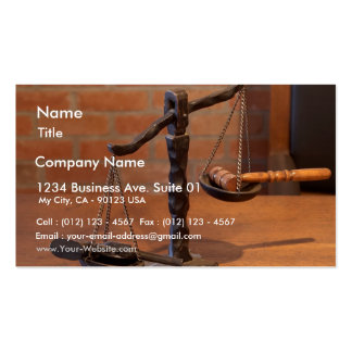 Scales Of Justice Business Card Templates