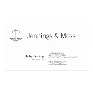 Scales of Justice Business Cards
