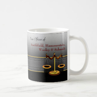 Scales of Justice Business Elegance Law Office Basic White Mug