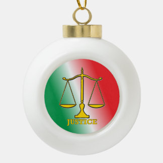 Scales Of Justice Ceramic Ball Decoration
