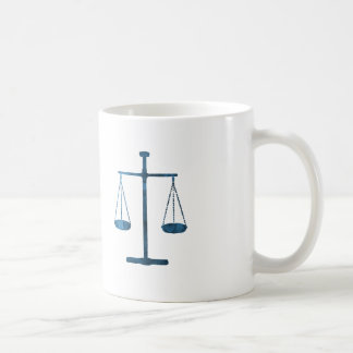 Scales of justice coffee mug
