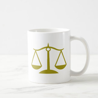 Scales of Justice - Gold Coffee Mug