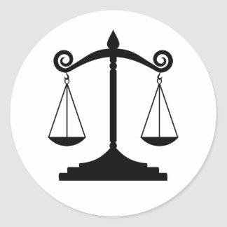 Scales of Justice (Law) Round Sticker