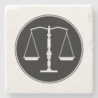 Scales of Justice | Law School Gifts Stone Coaster