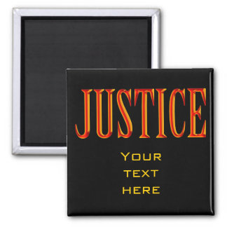 Scales of Justice | Law Student Square Magnet
