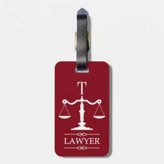Scales of Justice Lawyer Luggage Tag