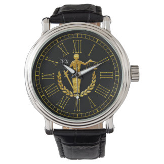 Scales of Justice Monogram Personalize Watch