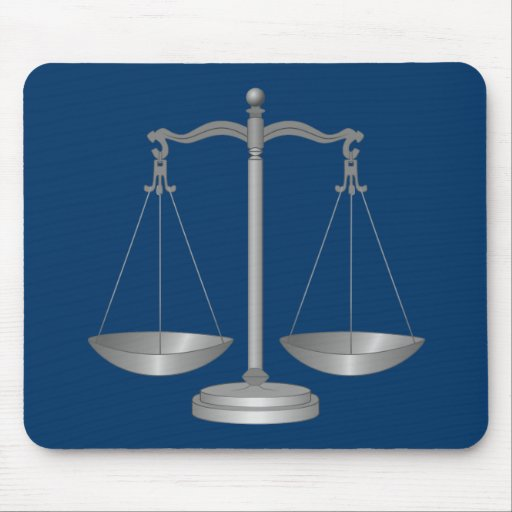Scales of Justice Mouse Pads