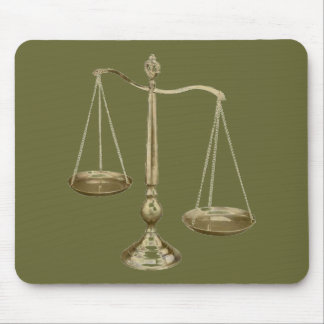 SCALES OF JUSTICE MOUSE PAD