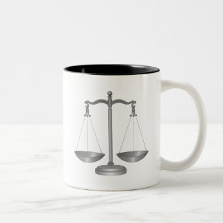 Scales of Justice Two-Tone Mug