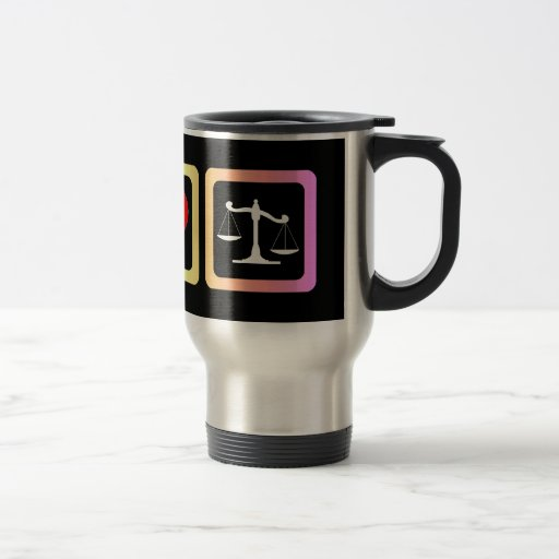 Scales of justice mug